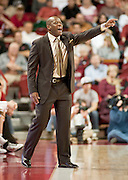 Nov 16, 2011; Fayetteville, AR, USA;  Arkansas Razorback head coach Mike Anderson calls a play during the second half of a game against the Oakland Grizzlies at Bud Walton Arena. Arkansas defeated Oakland 91-68. Mandatory Credit: Beth Hall-US PRESSWIRE