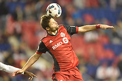 October 30, 2017 - Harrison, New Jersey, U.S - Toronto FC defender DREW MOOR (3) heads the ball at Red Bull Arena during the Audi 2017 MLS Cup Playoffs.Eastern Conference Semifinal in Harrison New Jersey Toronto defeats New York 2 to 1 (Credit Image: © Brooks Von Arx via ZUMA Wire)