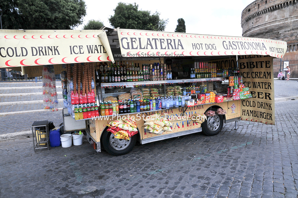 Rome, Italy Mobile food kiosk