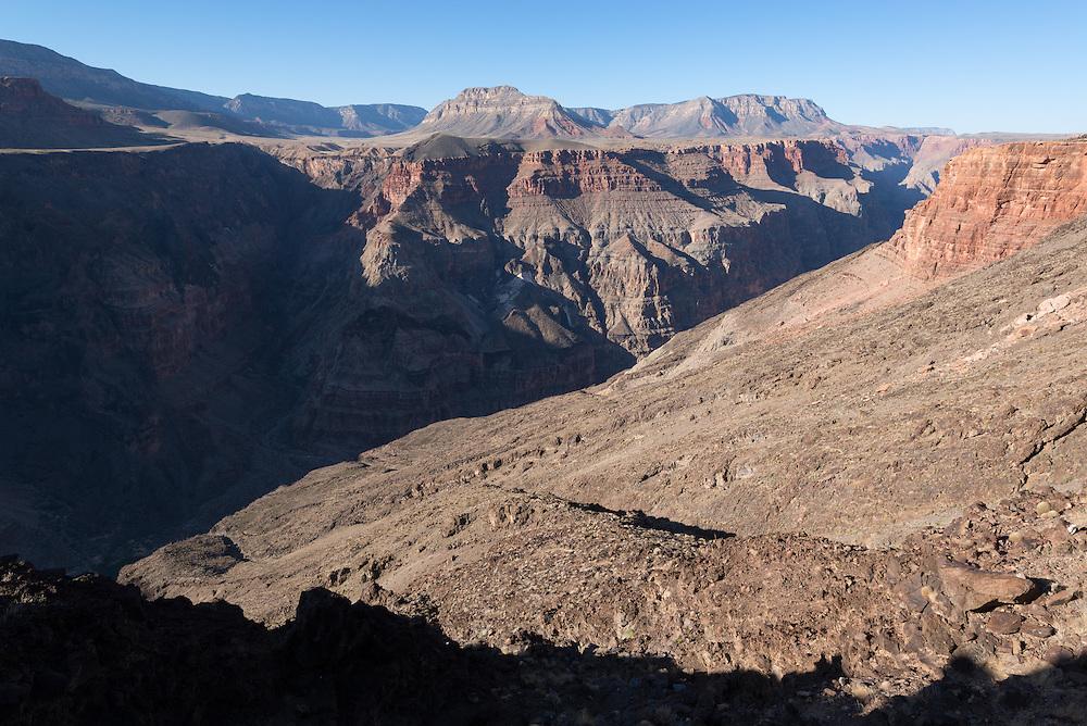 Colorado River gorge near Lava Falls, Grand Canyon National Park, Arizona.