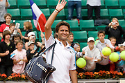 Paris, France. May 27th 2009. .Roland Garros - Tennis French Open. 1st Round..French player Fabrice Santoro lost against Christophe Rochus. .It's Fabrice Santoro's 20th and last Roland Garros.