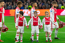 13-03-2019 NED: Ajax - PEC Zwolle, Amsterdam<br /> Ajax has booked an oppressive victory over PEC Zwolle without entertaining the public 2-1 / Ajax kids, line up