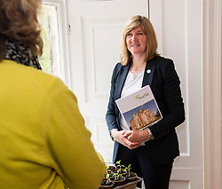 Pictured: Alison Johnstone<br /> <br /> Scottish Greens Health and social care spokeswoman Alison Johnstone took the opportunity e to meet staff and visitors at Leuchie House respite centre in North Berwick today.<br /> <br /> Ger Harley | EEm 26 April 2016