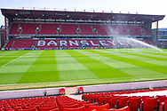 A view of the Oakwell pitch before the EFL Sky Bet League 1 match between Barnsley and Coventry City at Oakwell, Barnsley, England on 30 March 2019.