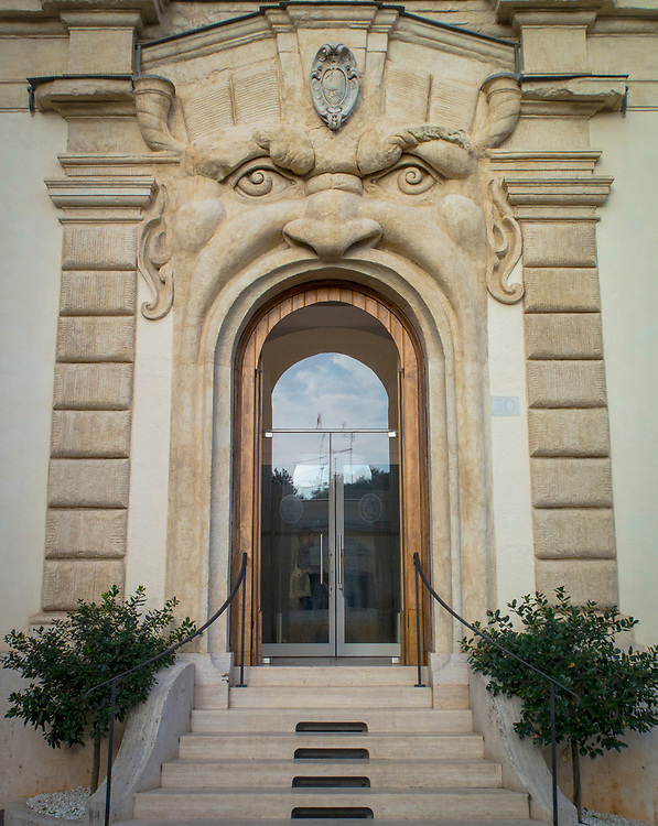 Exotic Roman Doorway at the Palazzo Zuccari, Rome, Italy
