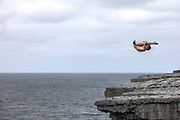 Cliff Diving at Inis Mor, Ireland