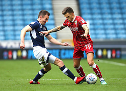 Jamie Paterson of Bristol City takes on Jed Wallace of Millwall - Mandatory by-line: Robbie Stephenson/JMP - 07/04/2018 - FOOTBALL - The Den - London, England - Millwall v Bristol City - Sky Bet Championship