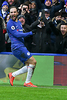 Football - 2018 / 2019 Premier League - Chelsea vs. Huddersfield Town<br /> <br /> Gonzalo Higuaín of Chelsea celebrates scoring his team's first goal, at Stamford Bridge.<br /> <br /> COLORSPORT/WINSTON BYNORTH