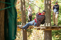 Wounded Warriors group at the Aerial Treetop Adventure at Gunstock Mountain Resort.  ©2014 Karen Bobotas /for the Laconia Daily Sun