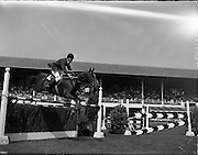 02/08/1960<br /> 08/02/1960<br /> 02 August 1960<br /> R.D.S Horse Show Dublin (Tuesday). David Barker, Great Britain, on Franco.