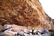 MEXICO, BAJA CALIFORNIA Rock Art, Paleolithic, Cueva Pintada