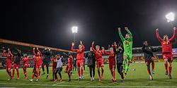 FC Nordsjælland-spillerne jubler mod deres fans efter kampen i 3F Superligaen mellem FC Nordsjælland og AC Horsens den 19. februar 2020 i Right to Dream Park, Farum (Foto: Claus Birch).