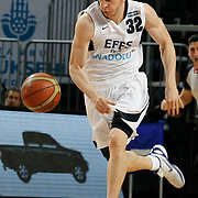 Efes Pilsen's Sinan GULER during their Turkish Basketball league match Efes Pilsen between Olin Edirne at the Sinan Erdem Arena in Istanbul Turkey on Friday 06 May 2011. Photo by TURKPIX