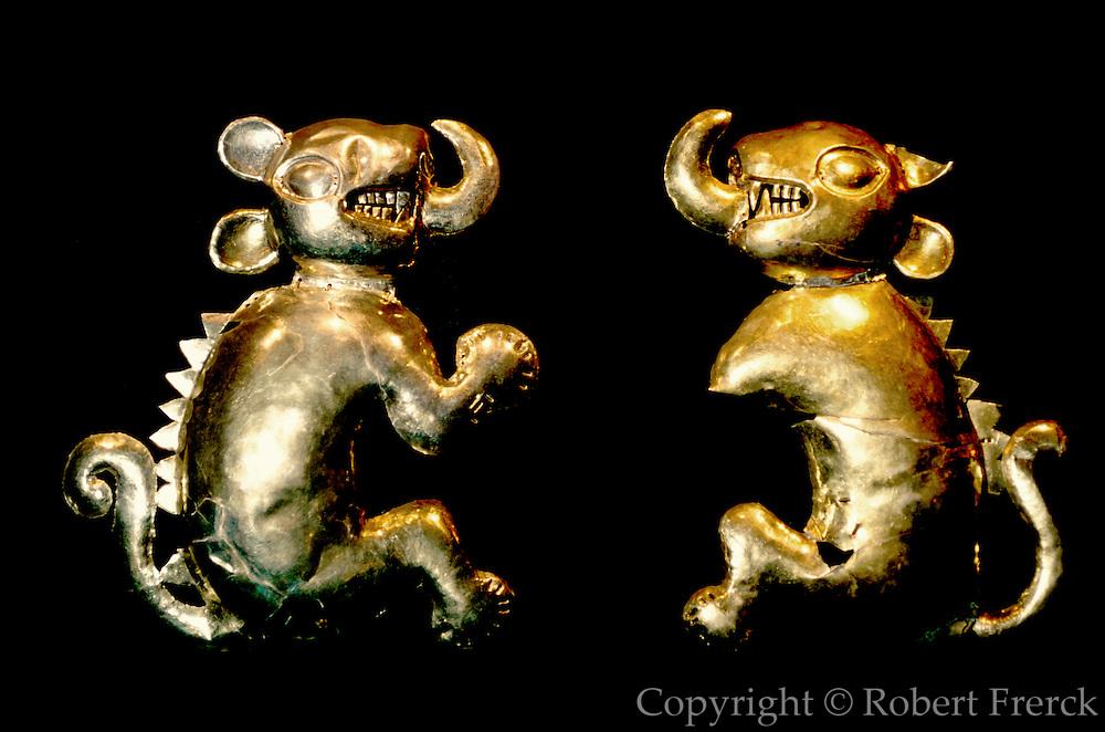 PERU, PREHISPANIC, GOLD Chimu-Lambayeque; Feline Idols