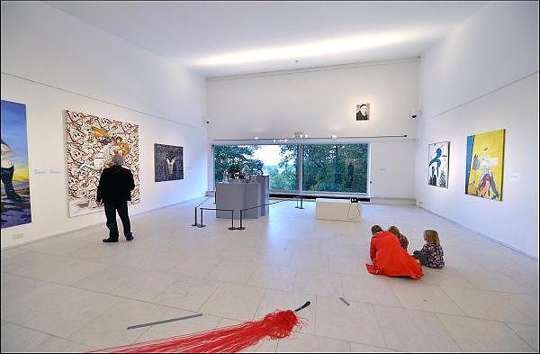 Nederland, The netherlands, Arnhem, 7-10-2015Expositie van zelfportretten van nederlandse schilders in de 20e eeuw in het gemeenlijk museum voor moderne kunst. De Rijnzaal.FOTO: FLIP FRANSSEN/ HH