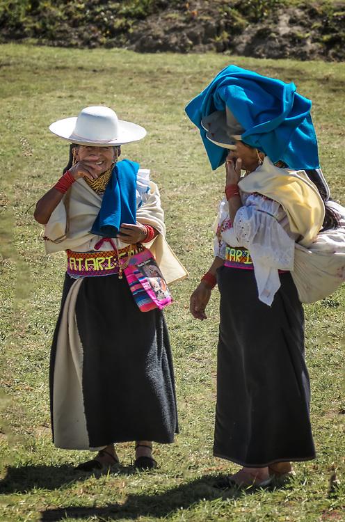 Two Laughing Kichwa Women at Kapak Raymi, Cotachi, Ecuador
