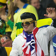 A USA fan dressed as Elvis during the Australia V USA, Pool C match during the IRB Rugby World Cup tournament. Wellington Stadium, Wellington, New Zealand, 23rd September 2011. Photo Tim Clayton...