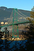Canada, British Columbia, Vancouver, Stanley Park, part of the Lion's Gate Bridge