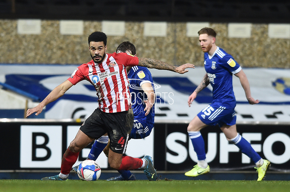 Ipswich Town defender Luke Chambers (4) runs with the ball during the EFL Sky Bet League 1 match between Ipswich Town and Sunderland at Portman Road, Ipswich, England on 26 January 2021.t