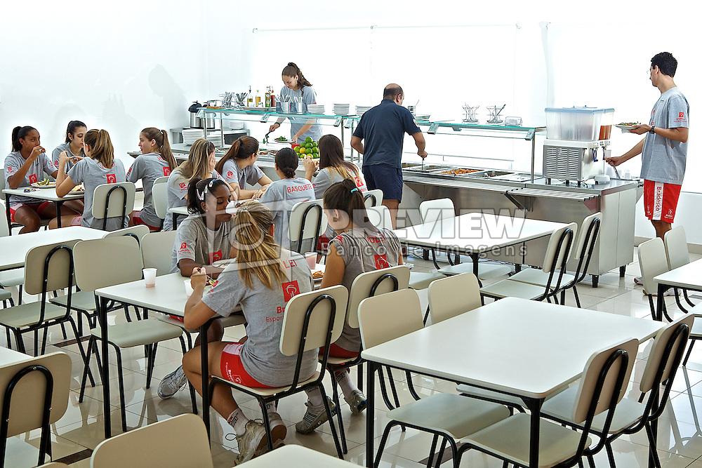Refeitorio dos atletas no ADC Bradesco Esporte e Educação, em Osasco. FOTO: Jefferson Bernardes/Preview.com