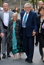 Rolf Harris arrives at  Southwark Crown Court, London, UK, hand in hand with his wife Alwen Hughes (left of Rolf).<br /> Tuesday, 6th May 2014. Picture by Ben Stevens / i-Images