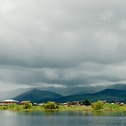 Houses in the middle of Inle lake