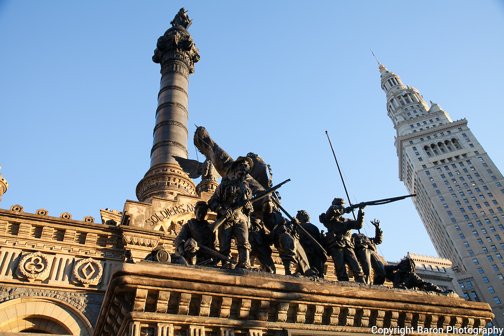 Soldiers and Sailors Monument on Public Square in Cleveland