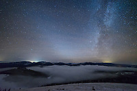 The winter milky way and the zodiacal light were shining brightly in the west after sunset. This view is from Granite Butte on Montana's continental divide.