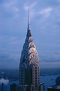 The Chrysler Building in New York City; designed by architect William Van Allen in the popular Art Deco style of 1930.