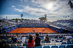 Center court during a tennis match  in 1st round of singles at 25th Vegeta Croatia Open Umag, on July 21, 2014, in Stella Maris, Umag, Croatia. Photo by Urban Urbanc / Sportida