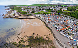 View of harbour at Cullen on Moray Firth coast in Moray, Scotland, UK