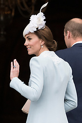 © Licensed to London News Pictures. 10/06/2016. DUCHESS OF CAMBRIDGE attends The National Service of Thanksgiving to mark the 90th Birthday of Queen Elizabeth II at St Paul's Cathedral. London, UK. Photo credit: Ray Tang/LNP