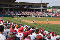 FAYETTEVILLE, AR - May 8:  Arkansas Razorback baseball at Baum Stadium on the campus of the University of Arkansas on May 8, 2006 in Fayetteville, Arkansas.   (Photo by Wesley Hitt/Getty Images) *** Local Caption ***