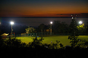 A baseball field along the ocean in Rincon Puerto Rico at sunset (photo by Charleston SC photographer Richard Ellis)