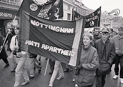 Anti-Apartheid march, Nottingham UK November 1986