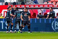 Vitalie Damascan scores 1-1 during eredivisie round 03 between FC Utrecht and RKC at Nieuw Galgenwaard stadium on September 27, 2020 in Utrecht, Netherlands