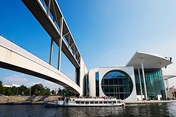 Marie Elisabeth Lüders Haus Government building beside Spree River in central Berlin Germany
