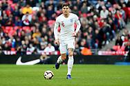 England's John Stones dribbling during the UEFA Nations League match between England and Croatia at Wembley Stadium, London, England on 18 November 2018.