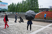 Yuppies and locals enjoy the Centenary Park together, Shanghai