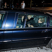 NLD/Amsterdam/20120404 - Opening filmmuseum Eye, aankomst Koningin Beatrix