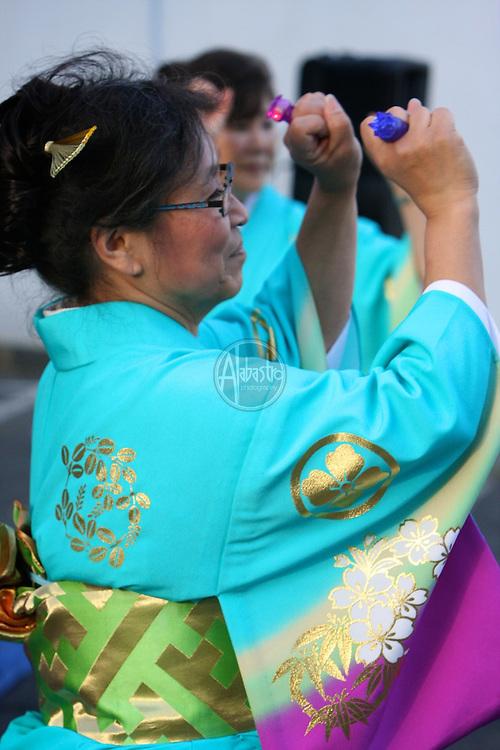 2011 Seattle Japantown Nihonmachi Nites.  Obon dance lessons from Tyler Moriguchi.