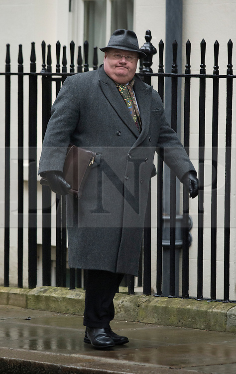 © London News Pictures. 26/02/2013. London, UK.  Secretary of State for Communities and Local Government Eric Pickles MP arriving on Downing Street for cabinet meeting. Photo credit: Ben Cawthra/LNP.