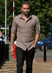 © Licensed to London News Pictures. 27/05/2015. <br /> LONDON, UK. Dane Bowers arrives at Croydon Magistrates Court today. The former boy band star pleaded not guilty to one count of assault by beating against his ex fiancee Sophia Cahill in Croydon in January, London, Wednesday 27 May 2015. Photo credit : Hannah McKay/LNP