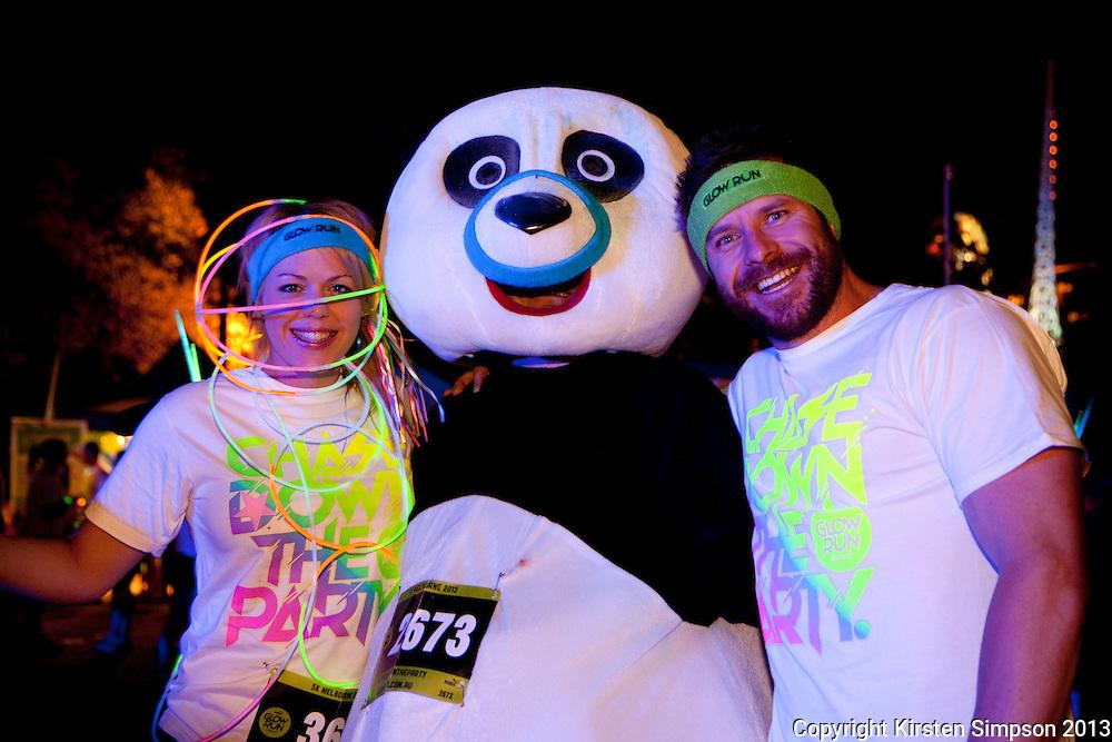 Start to Finish Puma Glow Run @ Birrarung Marr