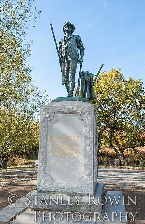 Minuteman Statue, Concord MA, American revolution, Patriots Day