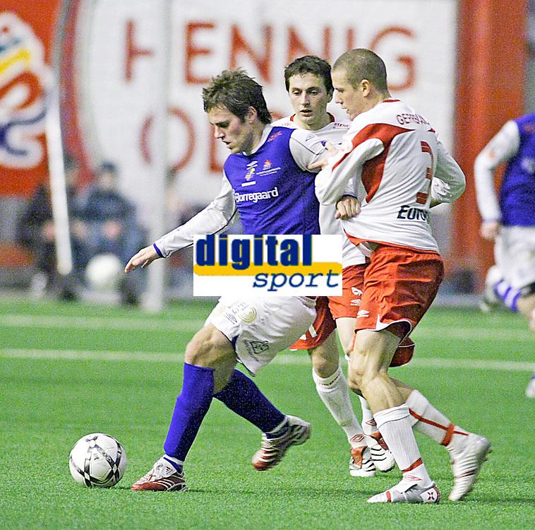 FotballI , 08. Februar 2008 , Treningskamp , Fredrikstad - SFK Sparta , Martin Wiig SFK Sparta , Patrik Gerrbrand Fredrikstad , Foto: Thomas Andersen , Digitalsport