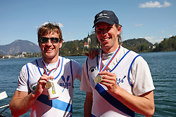 Iztok Cop and Luka Spik of VK Bled  at 49th Prvomajska regata, on April 20, 2008, in Bled Lake, Slovenia.  (Photo by Vid Ponikvar / Sportal Images)./ Sportida)