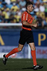September 30, 2018 - Villarreal, Castellon, Spain - Referee Ignacio Iglesias Villanueva runs during the La Liga match between Villarreal CF and Real Valladolid at Estadio de la Ceramica on September 30, 2018 in Vila-real, Spain  (Credit Image: © David Aliaga/NurPhoto/ZUMA Press)