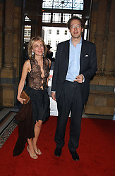 SAHAR HASHEMI and LUPO VON MALTZAN at the opening party for Diamonds - a new exhibition at The Natural History Museum, London in association with De Beers held on 6th July 2005.<br /><br />NON EXCLUSIVE - WORLD RIGHTS
