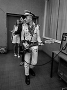The Clash backstage at the Manchester Apollo - 1980